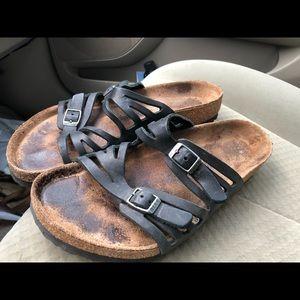 Birkenstock Black Leather Sandals size 40/9